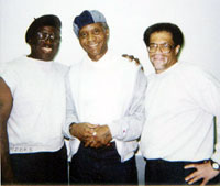 Herman Wallace, Robert King, and Albert Woodfox in 2008, during a rare break from solitary