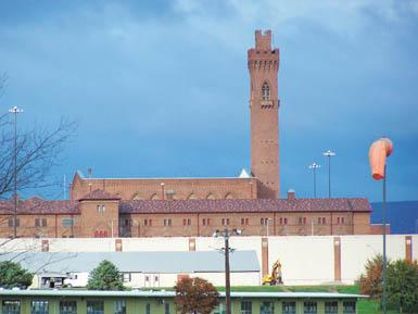 Pictured is a view of USP Lewisburg from outside the wall. The prison has been home to several notorious criminals over the years. These days, it operates as a Special Management Unit, housing some of the worst of the worst from Federal Bureau of Prison sites across the country. Photo by Photo provided by FBOP.