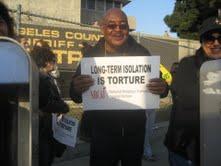 Protestors outside the LA County Jail
