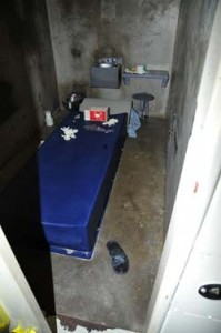 RHU cell of prisoner Matthew Bullock, who committed suicide in 2009.