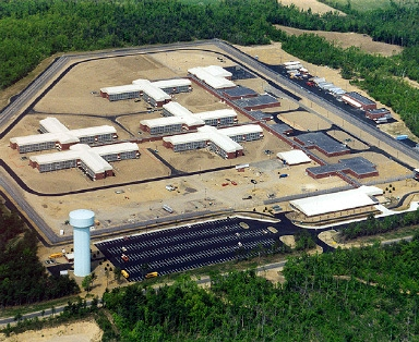 Upstate supermax prison in Malone, New York