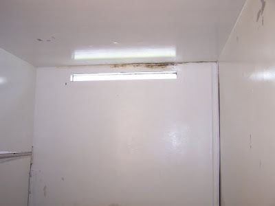 View of cell window with mold growing along ceiling (Source: http://minutesbeforesix.blogspot.com)
