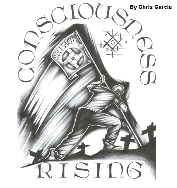 Consciousness RIsing, by Chris Garcia, held in SHU at Pelican Bay