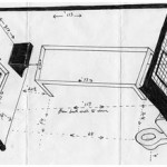 Drawing of a cell in the solitary confinement unit at the Louisiana State Penitentiary at Angola, which is call Closed Cell Restricted, or CCR. By the Angola 3′s Herman Wallace