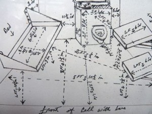 Herman-Wallaces-drawing-of-his-sparse-cell-complete-with-measurements-the-total-dimensions-are-5-feet-10½-inches-by-10-feet-1½-inches.