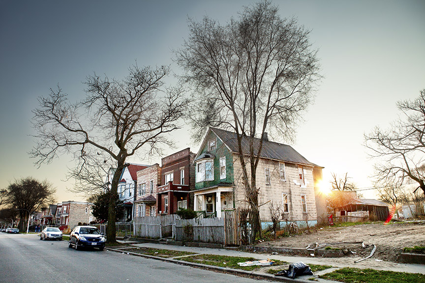 MY AUNTIE'S HOUSE ON THE BLOCK—Photo by Chris Murphy