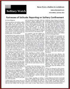 Solitary Watch Summer 2013 Print Edition