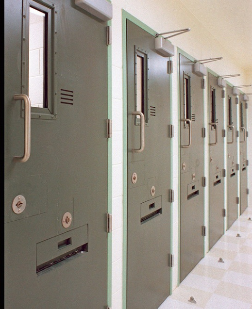 Solitary confinement cells at ADX Florence, the federal supermax in Colorado.