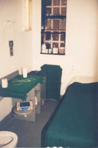 Solitary confinement cell in a New York state prison.