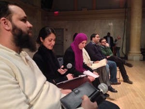 Panelists at the No Separate Justice launch at Judson Memorial Church