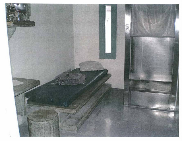 "A solitary confinement cell at ADX federal supremax, which one warden called ""a clean version of hell."""