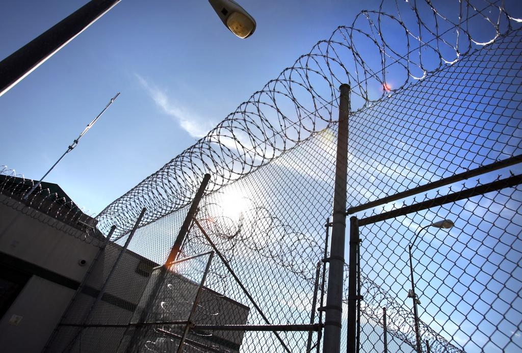 Razor wire on the fencing at the Polunsky Unit in Livingston, TX.