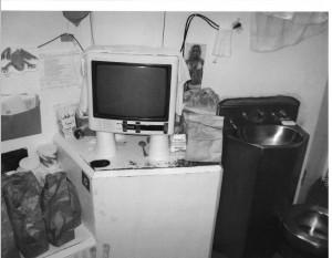 Ashker -- PBSP-SHU 4View of sink-toilet, desk area with-TV