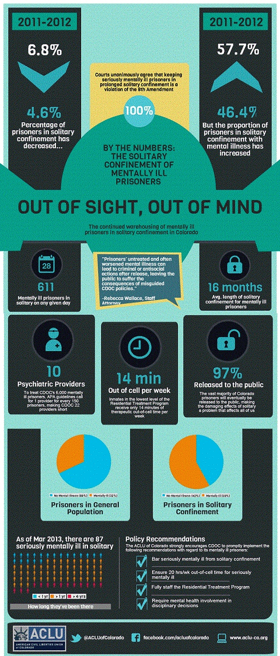 Out of Sight, Out Mind – By the Numbers: The Solitary Confinement of Prisoners with Mentally Illness