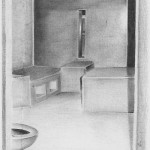 Drawing of a solitary confinement cell at California's Corcoran State Prison by Billy Sell, who died during last year's prison hunger strike.