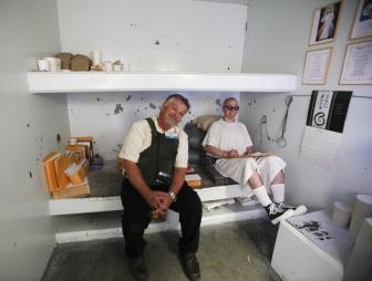 Pelican Bay - Mark Boster [photojournalist, LA Times] w. inmate Javier Zubiate in the SHU - Inside Pelican Bay - LA Times