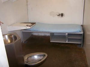 A cell on the Polunsky Unit, Texas death row.