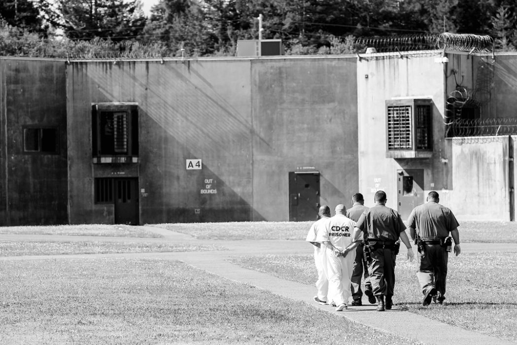 pbsp Correctional officers watch a general population yard. Del Norte Triplicate Bryant Anderson