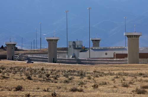 ADX Florence in Colorado, where more than 400 men are held in extreme isolation.