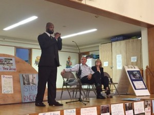 Marshall Justice Rountree speaks on a panel with state legislators about his time in solitary confinement (Photo: Susan Loyer/MyCentralJersey.com)