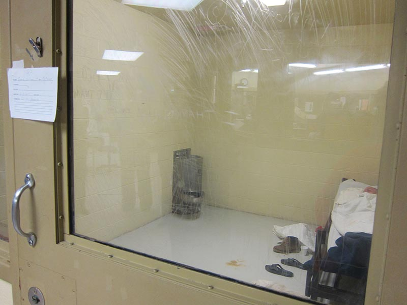 """A """"suicide cell"""" in  Alabama. Photo: Southern Poverty Law Center."""