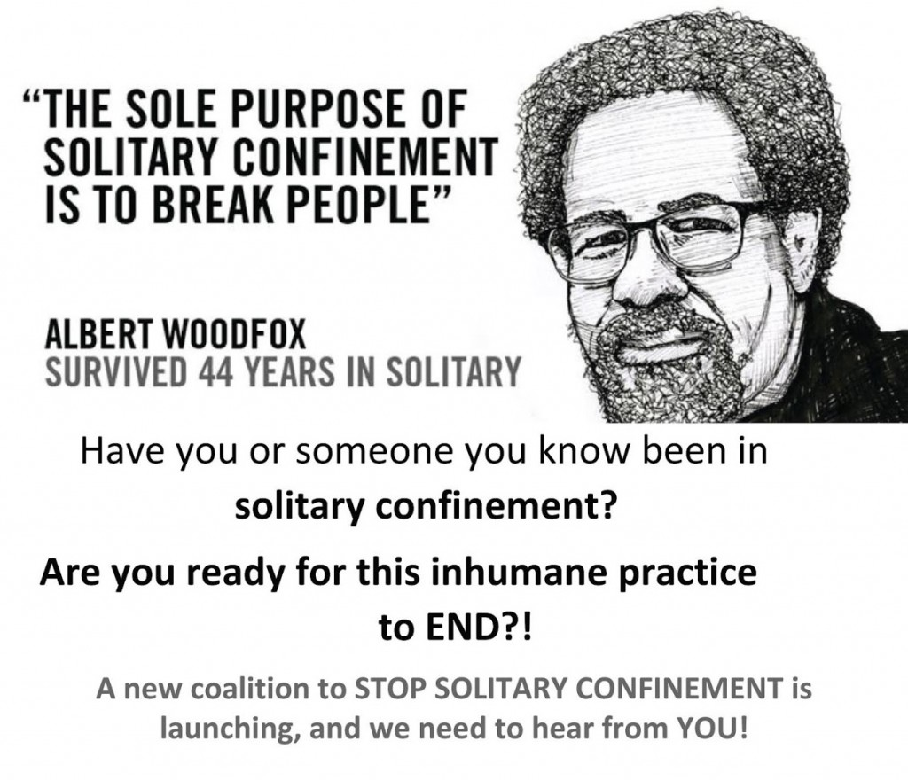 Image from a flyer for planning meetings of the Louisiana Stop Solitary Coalition, 2019.